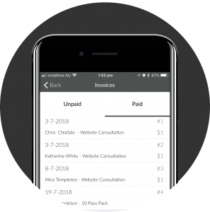 Mobile Payments pay Invoice